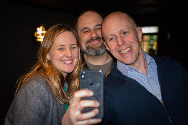Emily, Craig, and John take time for a selfie.